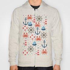 Sea White Pattern Hoody