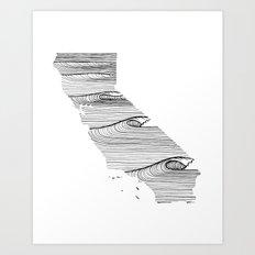 Caifornia Map Art Print