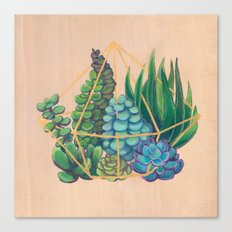 Geometric Terrarium #1 Canvas Print