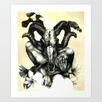 The Ram And The Crows Art Print