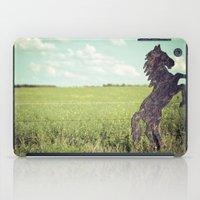 Horse fence iPad Case