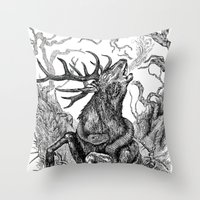 Low roar Throw Pillow
