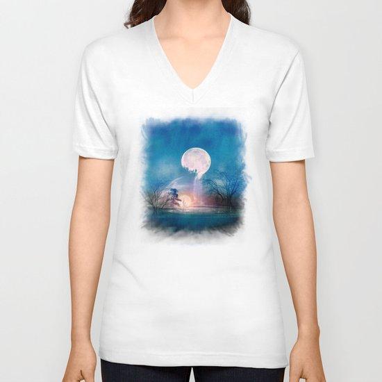 Moon Above, Sun Below V-neck T-shirt