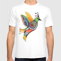 Love Bird Mens Fitted Tee White SMALL