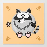 Raccoon From The Circle … Canvas Print