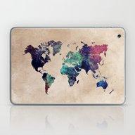 Cold World Map Laptop & iPad Skin