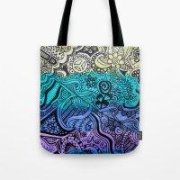 Watercolor Doodle Tote Bag