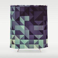 :: geometric maze :: Shower Curtain