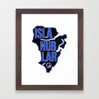 Jurassic World - Isla Nu… Framed Art Print