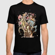 The Great Horse Race! MEDIUM Black Mens Fitted Tee