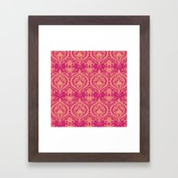 Simple Ogee Pink Framed Art Print