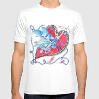 Falling in Love Mens Fitted Tee White SMALL