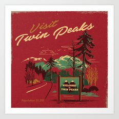 WELCOME TO TWIN PEAKS Art Print