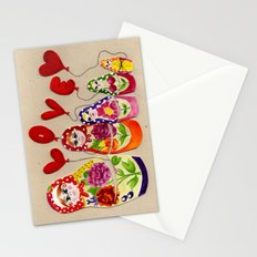 From Russia with Love Russian Dolls Stationery Cards