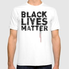 Black Lives Matter Mens Fitted Tee SMALL White