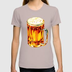 Beer Pattern 2 Womens Fitted Tee Cinder SMALL