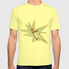 Superheroes SF Mens Fitted Tee Lemon SMALL