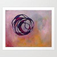 Pink Spiral Art Print