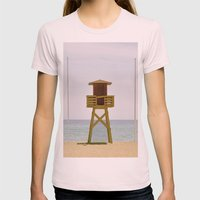 The beach Womens Fitted Tee Light Pink SMALL