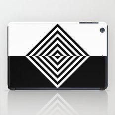 Black and White Concentric Diamonds iPad Case