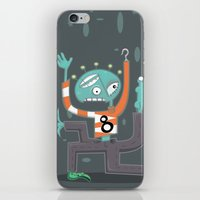 Crazy Alien iPhone & iPod Skin