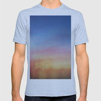 Abstract Sunset Mens Fitted Tee Athletic Blue SMALL