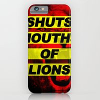 iPhone & iPod Case featuring SHUTS MOUTHS OF LIONS (Daniel 6:22) by BEN MURPHY