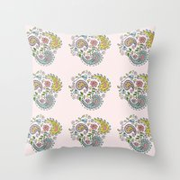 Paisley Pattern Throw Pillow