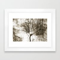 Water Reflection Framed Art Print