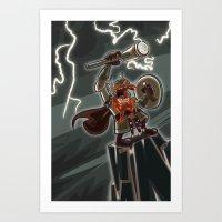 Bolt Thundersmite- Versi… Art Print