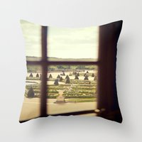 Windows of Versailles II Throw Pillow