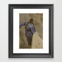 Hiking In The Desert Framed Art Print