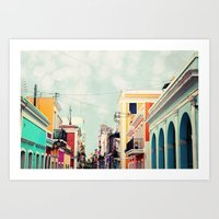 Colorful Buildings Of Ol… Art Print