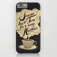 tea iPhone & iPod Cases featuring Some Hot Tea For My Hottie by Laura Graves