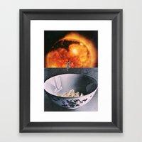 Crystal Bowl Framed Art Print