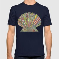 Sea Shell Mens Fitted Tee Navy SMALL