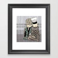 Happy When It Rains Framed Art Print