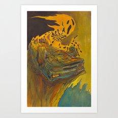 Totalled Art Print