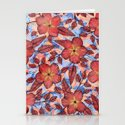 Coral Summer - a hand drawn floral pattern Stationery Cards