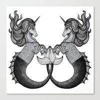 Mermaid Unicorn Canvas Print