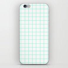 Grid (Aquamarine/White) iPhone & iPod Skin