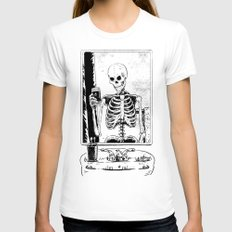 Skelfie Womens Fitted Tee White SMALL