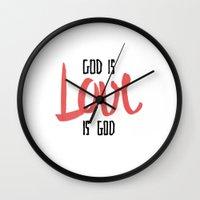 God Is LOVE Is God Wall Clock