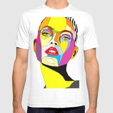 Model Mens Fitted Tee White SMALL
