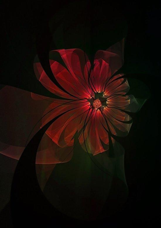 Fractal Ribbon Flower Art Print