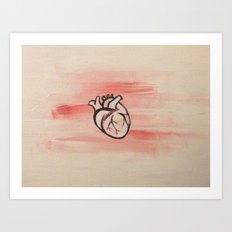 my i love you Art Print