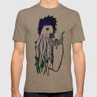 Tentacle X Mens Fitted Tee Tri-Coffee SMALL