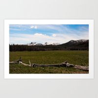 mountains. Art Print