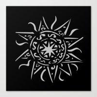 Celtic sun Canvas Print