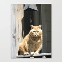 Canvas Print featuring Cat Boy by Joy Reyes